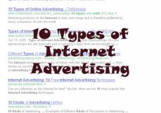 The various online advertising