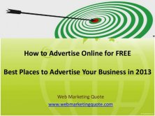 How to Advertise Online for