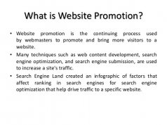 What is Website Promotion?