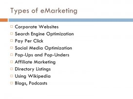 Types of eMarketing