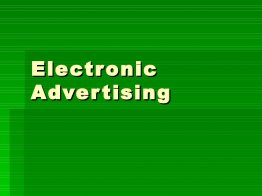 Electronic Advertising