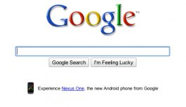 Google.com Nexus One Ad