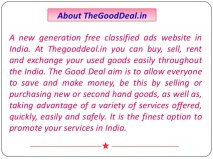 About TheGoodDeal.in A new