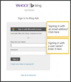 Sign in to Bing Ads
