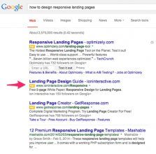 how to design responsive landing pages serp