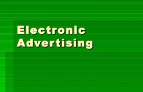 Electronic advertising definition