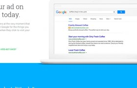 Google AdWords login page