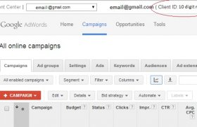 My AdWords Account