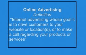 Online advertising Definition