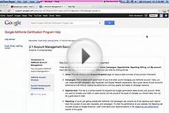 2.1 Account Management Basics - Key Concepts of AdWords