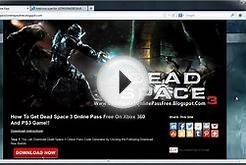 Dead Space 3 Online Pass Code Free - Xbox 360 PS3