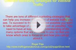 Different Marketing Strategies For Website Traffic