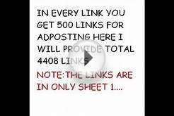 download free List of 4408 links for post free ad (links