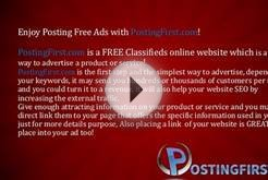 Enjoy FREE Online Advertising Marketing with PostingFirst