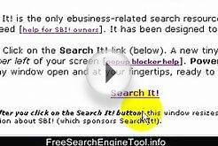 Free Search Engine Tool - Free Website Tools