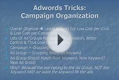 Google AdWords Strategy: Campaign Organization