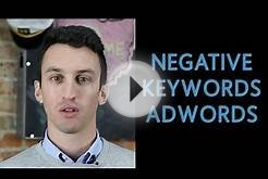 How To Add Negative Keywords in Google Adwords