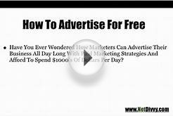 How To Advertise Free - Part #1