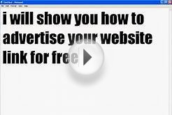 how to advertise your website free