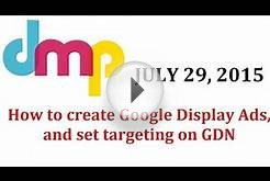 How to create Google Display Ads, How to create display