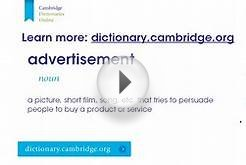 How to say advertisement (with definition)