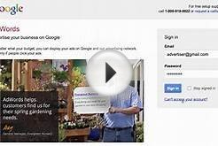 How to sign in to your AdWords account