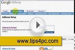 Make a Google adsense text ad for your website