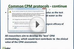 Medoc Webinar - CPM (Conditioned Pain Modulation)
