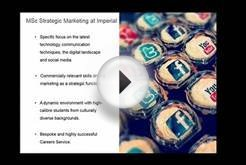 MSc Strategic Marketing online information session 4 April
