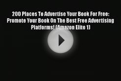[PDF Download] 200 Places To Advertise Your Book For Free