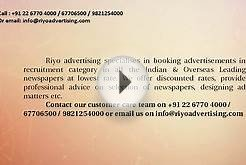 Riyo Advertising Agency, Books all types of Classified