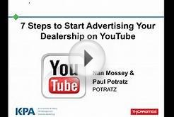 Steps to Start Advertising Your Dealership on YouTube