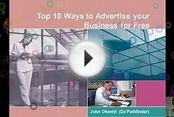 Top 10 Ways to Advertise your Business For Free