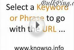 Tutorial : Website Promotion Tool - Indexer and Pinger