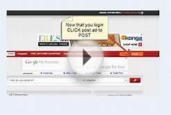 VIDEO On How To Post Free Ads On @dahor Classified Site IF